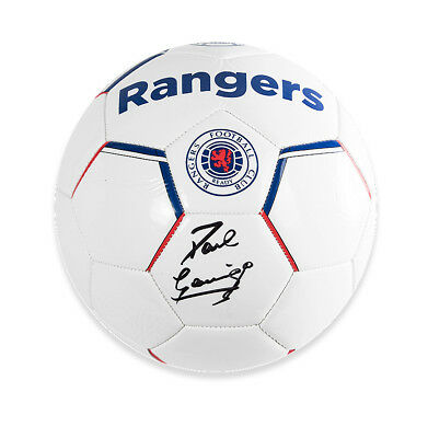 Paul Gascoigne Signed Football - Rangers Autograph