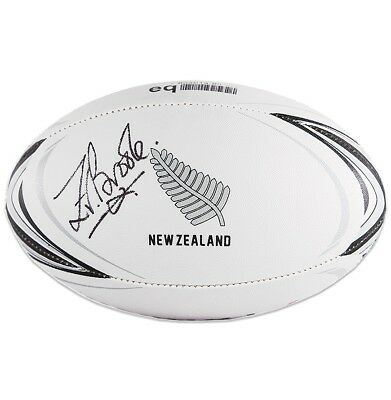 Zinzan Brooke Signed Rugby Ball - New Zealand Autograph