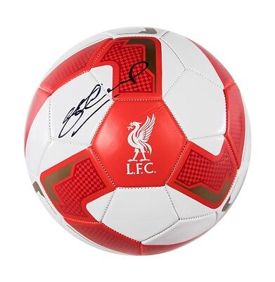 Steven Gerrard Signed Liverpool Football Autograph