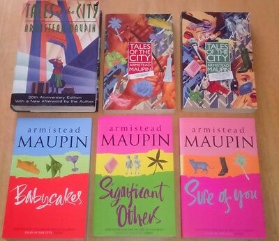Maupin, Armistead Tales of the City 6 Book SET-  5 Pb & 1 HB San Francisco Gay