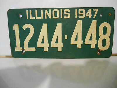 plaque immatriculation usa illinois 1947 license plate old ancienne
