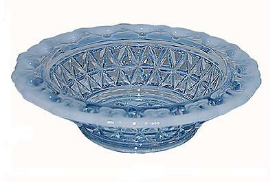 "Imperial Laced Edge Katy Blue Opalescent 4 1/2"" Fruit Bowl"