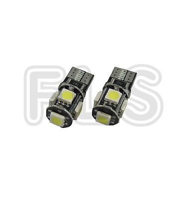 2x CANBUS ERROR FREE CAR LED W5W T10 501 NUMBER PLATE/INTERIOR LIGHT BULBS  PGT2