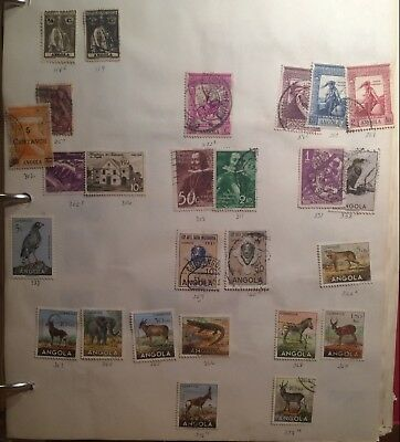 Postage stamps Angola lot of 47 Portuguese colony