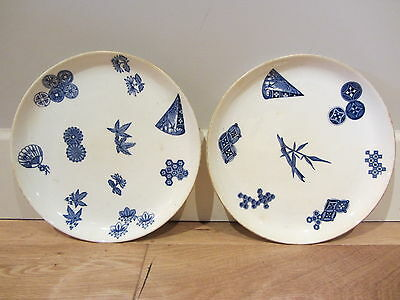 Pair of Antique 1879 English Royal Worcester Oriental Plates Very Rare