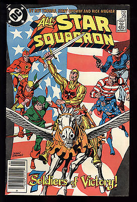 All Star Squadron (1981) #29 1st Print 7 Soldiers Of Victory Mark Jewelers FN/VF