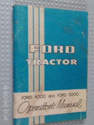 Works Manual For The Ford 4000 And 5000 Tractors  1967