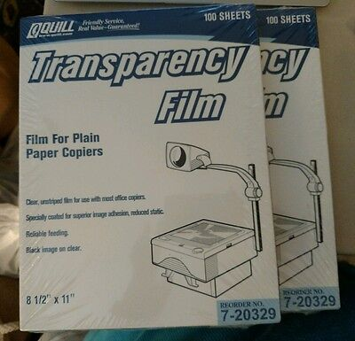 "Transparency Film Quill 7-20239 - 200 Sheets 8 1/2"" x 11"" - Factory Sealed"
