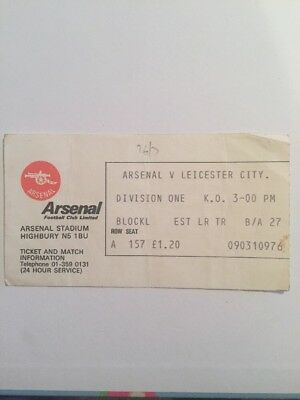 Ticket : Arsenal V. Leicester City 1976-1977