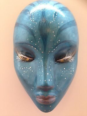Hand cast wall hanging mask Avatar theme