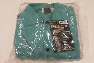 NEW TILLMAN 6900L Coveralls Flame Retardant Cotton, Size - Large Free Shipping!