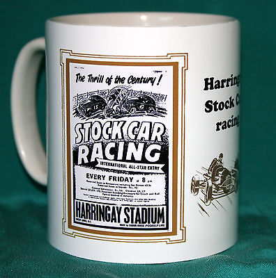 Stock Car Racing.harringay .retro Programme Design Mug.great Gift.new.bnib