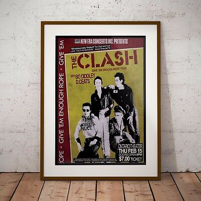 The Clash 1979 Early USA Concert Poster Print Three Sizes NEW 2017 Exclusive