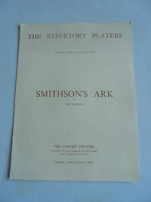 1967 Repertory Players Smithsons Ark Comedy Theatre Programme + Flyer + Letter