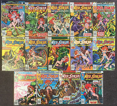 Red Sonja (1st Series) 1 2 3 5 6 7 8 9 10 11 12 13 14 15 Marvel Comics Lot Conan