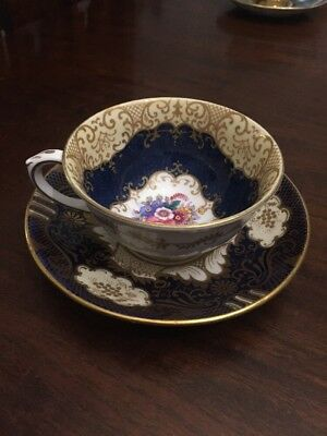 Rare Vintage Or Antique Royal Staffordshire Cup And Saucer Hand Painted