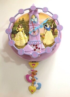 Collectable 💕Disney Princess Wall Clock With Music Animation & Lights 💖