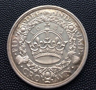 Scarce 1932 Uk Crown Coin Only 2395 Minted