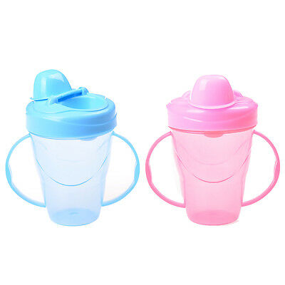 New Baby Cup Feeding Bottle Trainer Easy Grip Plastic Handles Holder Pop FO
