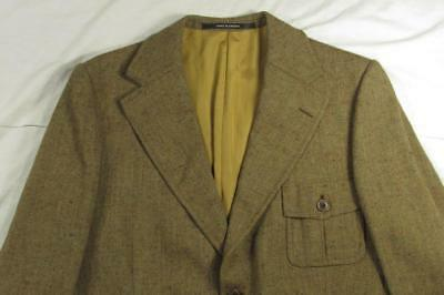 Vtg 60s Tiger 1930s Style Fleck Wool Norfolk Belt Back Blazer Sport Coat Jacket