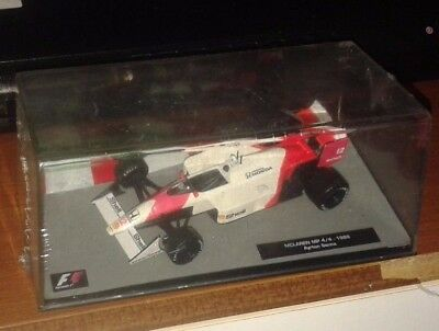 1/43rd scale McLaren MP4/4 -1988 - Ayrton Senna - mint in perspex box