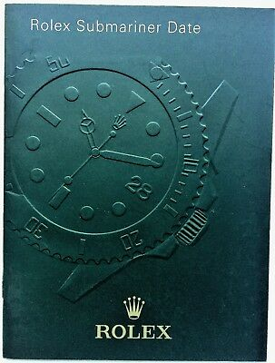 Rolex Submariner Booklet Owners Instruction Manual Book Choose Date English