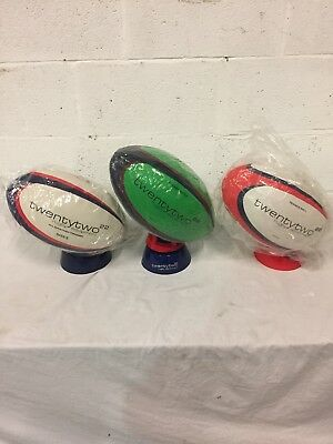 Rugby Ball Size 5 with adjustable kicking tee