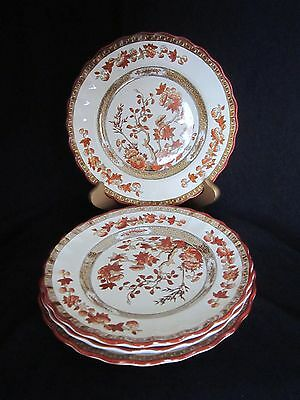 Vintage Copeland Spode India Tree Rust Bread & Butter Plates (4) - Old Mark