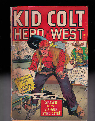Kid Colt 1 Heavily Taped spine Water Damage but complete Atlas Timely