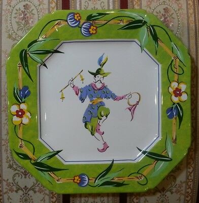 """Essex Collection Good Fortune Joan Green 8 1/2"""" Plate Green Border Oriental Mint"""