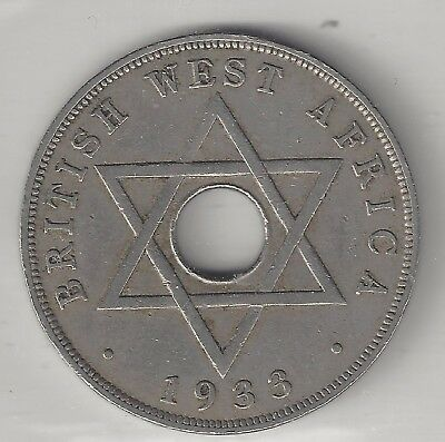 West Africa, British, 1933, Penny, Copper Nickel, Km#9, Very Fine-Extra Fine