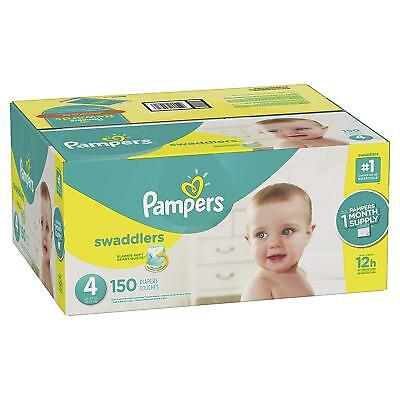***NEW*** Pampers Swaddlers Diapers Size 4, 150 count ***FREE SHIPPING***