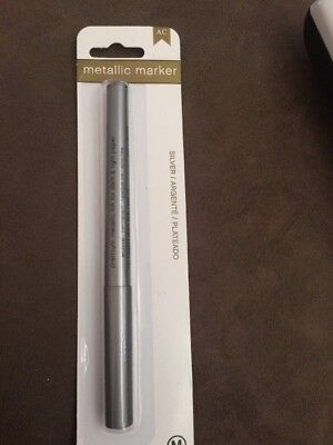 New American Crafts Metallic Marker Medium Point - Silver