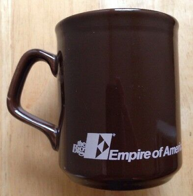 1980s THE BIG EMPIRE OF AMERICA FEDERAL SAVINGS BANK COFFEE MUG, VINTAGE