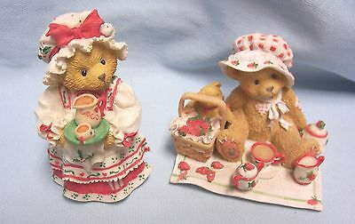 Collectible Cherished Teddies Figurines 1995  Holly (141119), Thelma (156302)