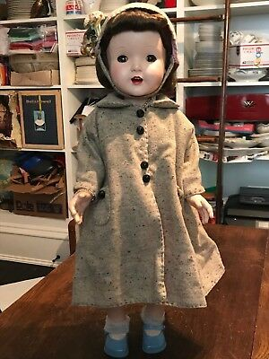 "Vintage 1950's Artisan Raving Beauty 24"" Walker Doll Amazing Hair & Clothes!"