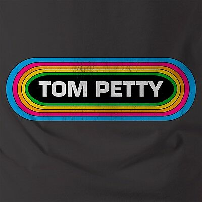 Tom Petty and The Heartbreakers Rainbow T-shirt with Vintage Retro look and feel