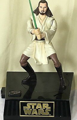 Star Wars Qui-Gon Jinn Coin Bank With Sound and Movement