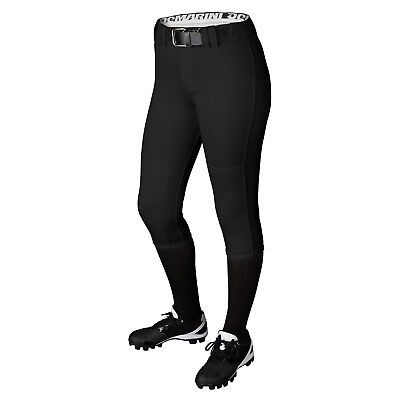 DeMarini Girl's Belted Fastpitch Softball Pant - Black - Large