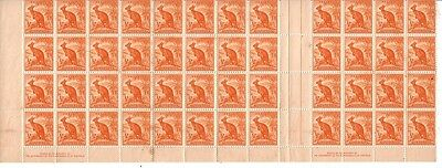 AUSTRALIA....  ½d kangaroo  x48 coil stamps in block of 12x4 and  2 imprints
