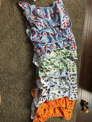 Lot of 43 Cloth Diapers-Sunbaby, Fuzzibunz, Kawaii, and more!