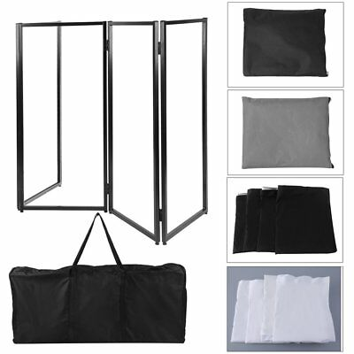 DJ Musician Event Facade Scrim Screen Metal Frame Booth With Carrying Bag US TK