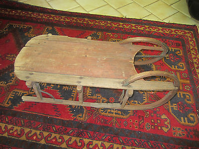 "Antique primitive 19th century child's sled, 29"" long, 11"" high, 14"" wide"