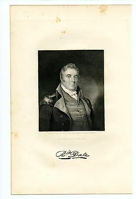 RICHARD DALE, Revolutionary War Continental Navy/Commodore/Barbary, Engraving
