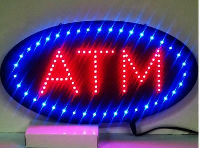 "19""x10"" Animated Motion LED ATM Machine Sign On/Off Open Ultra Brighter Light TO"
