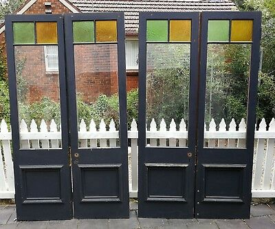 Two Matching Pairs Of Rebated Federation style hopscotch French Doors
