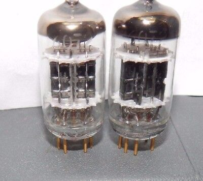 6072A General Electric N~O~S Pair Black Plates Gold Pin Stereophile 6072-A 12Ay7