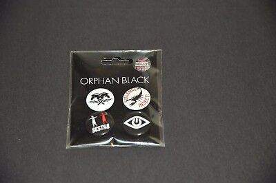 4 New Orphan Black pins from TV Show, Mint Sealed
