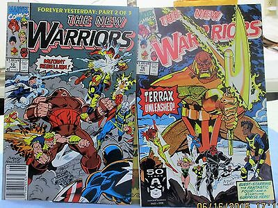 """The New Warriors"" Super Heroes 14 Issues From Marvel Comics 1991 Tru 1994"