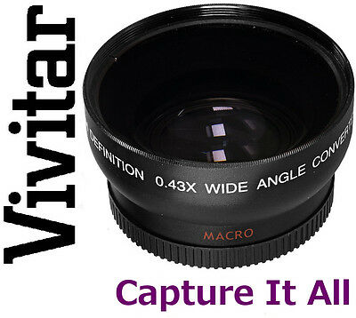 Vivitar HD4 Optics 0.43x Pro HD Wide Angle With Macro Lens For Sony SLT-A35